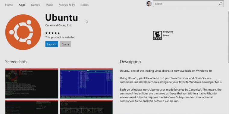 ubuntu-in-windows-store 2